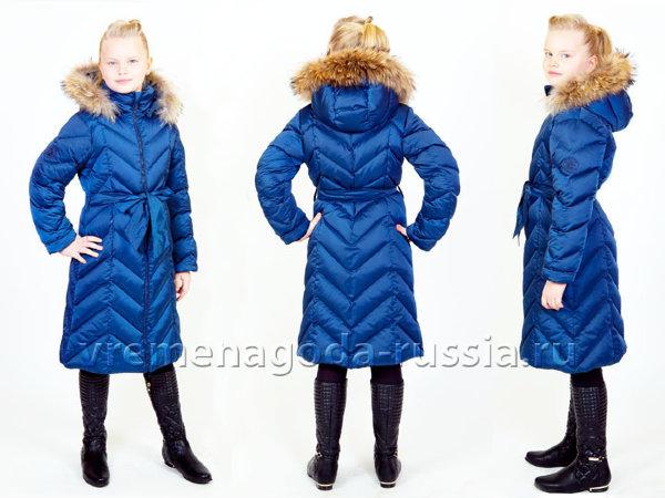2618c0aeb572 Детское зимнее пальто на искусственном лебяжьем пуху для девочки